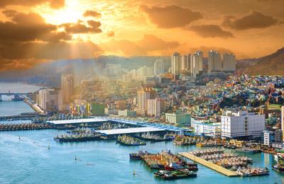 Fähre nach Südkorea
